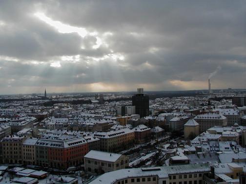 Munich from a town