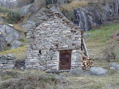 Village house above Berzona, Switzerland