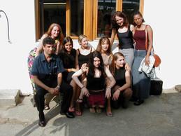 The beautiful women volunteers