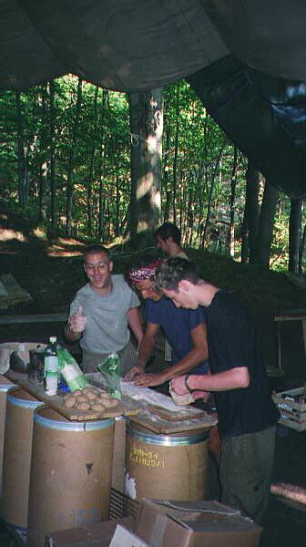 Ryan, Nicola and Kuba cooking