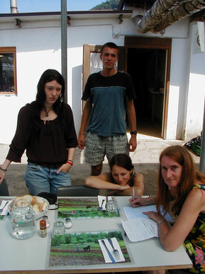 Melanie, Martin, Luiza and Annameke