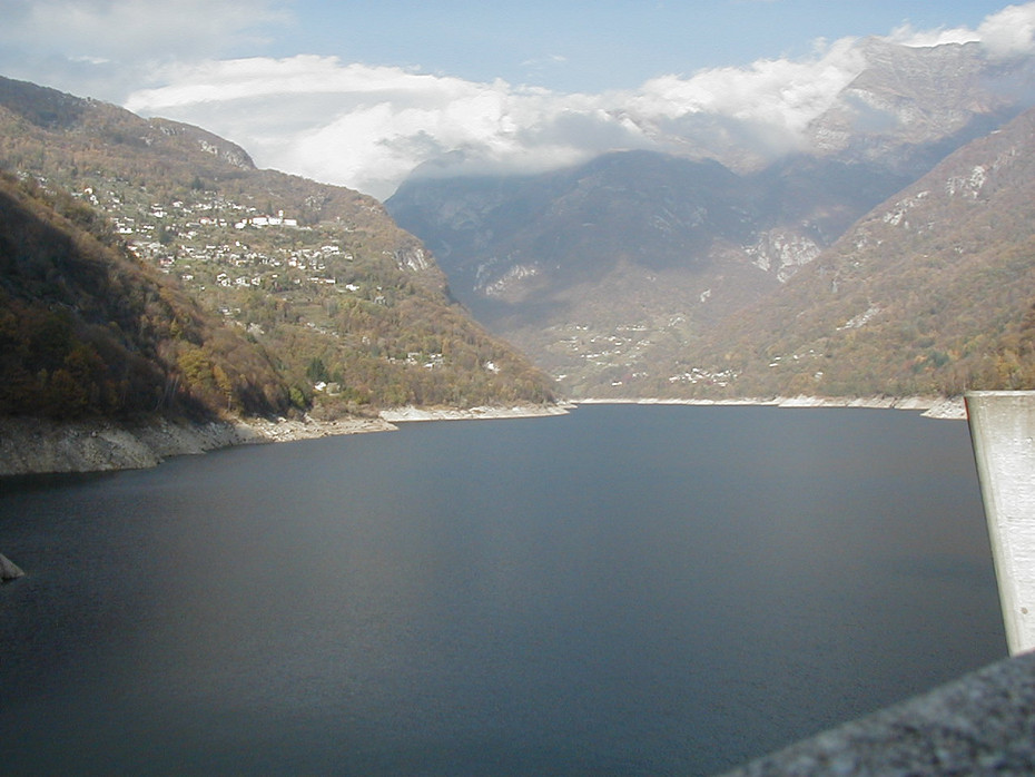 A view from the dam, below Berzona, Switzerland