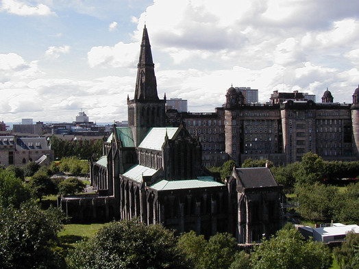 Rear of the Glasgow Cathedral