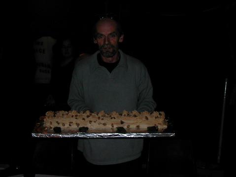 Roger with dessert!