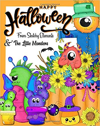 Little Monster Halloween Coloring Book