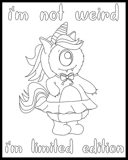 Free Coloring Page- Little Monsters