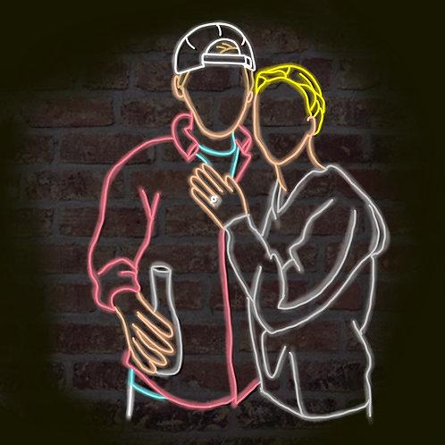 Neon Custom Selfie