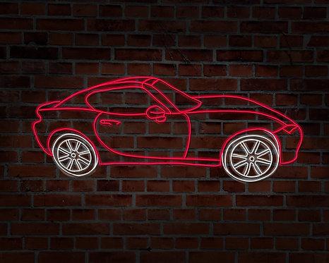 Neon Custom Car Selfie