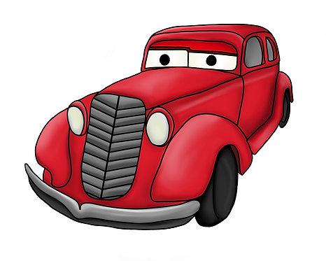 Custom Cartoon Car Poster