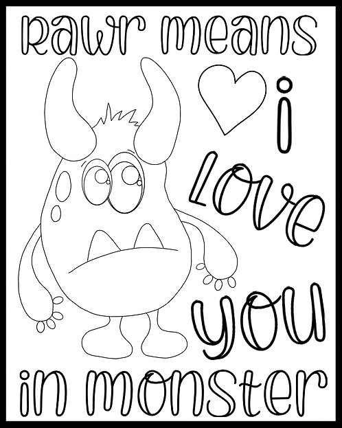 Free Coloring Page- Little Monsters v2