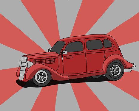 Custom Pinwheel Car Poster