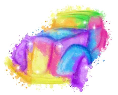 Custom Watercolor Car Poster