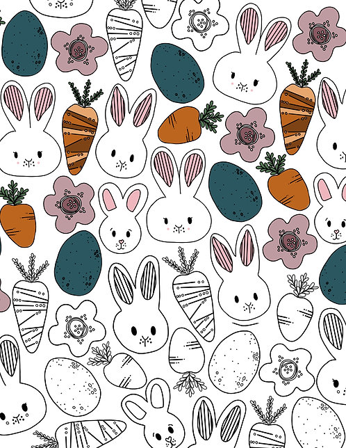 Patterned Easter Coloring Page