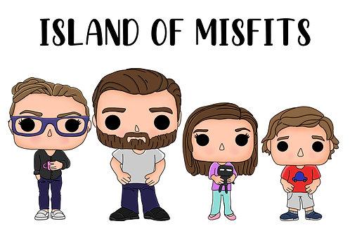 Custom Cartoon Family Portrait