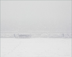 Bench in the Snow, Hove