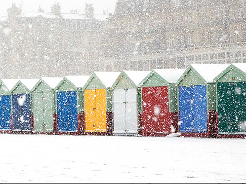 Beach Huts in the Snow, Hove - Detail