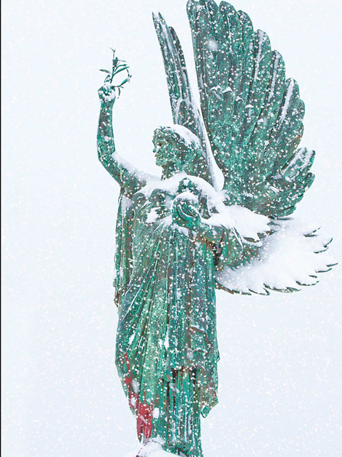 Angel in the Snow (Peace Statue)
