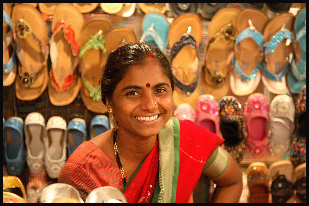 Anjuna Market, Goa, Shoe Shop