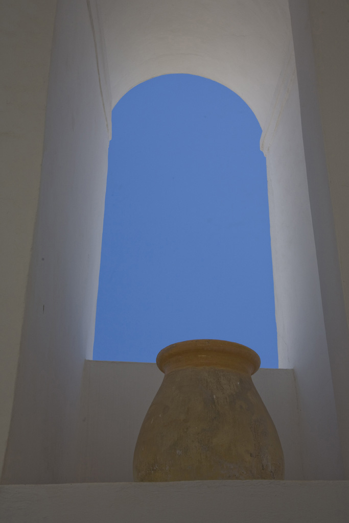 Santorini Pot, Arch and Sky