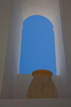Santorini Pot, Arch and Sky