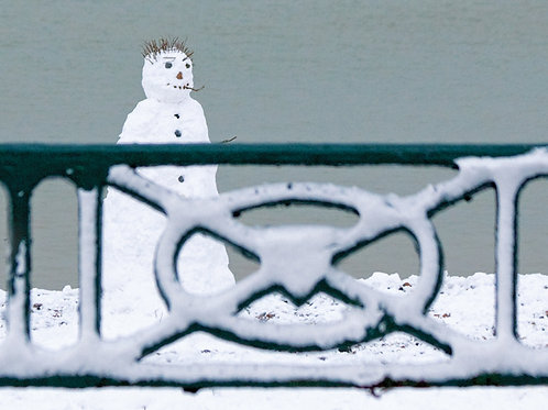 Snow Man and Railings