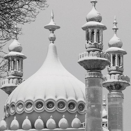 Pavilion in the Snow, Brighton - Square Card