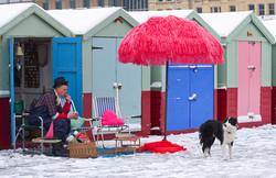 John the Van and his beach hut