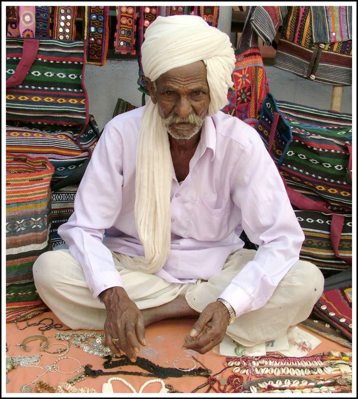 Indian Street Market Cloth Seller