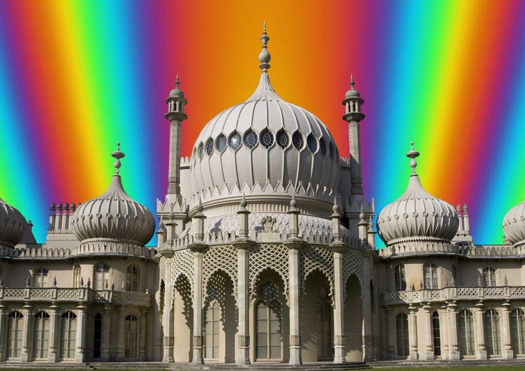 Rainbow Fractal Pavilion#1