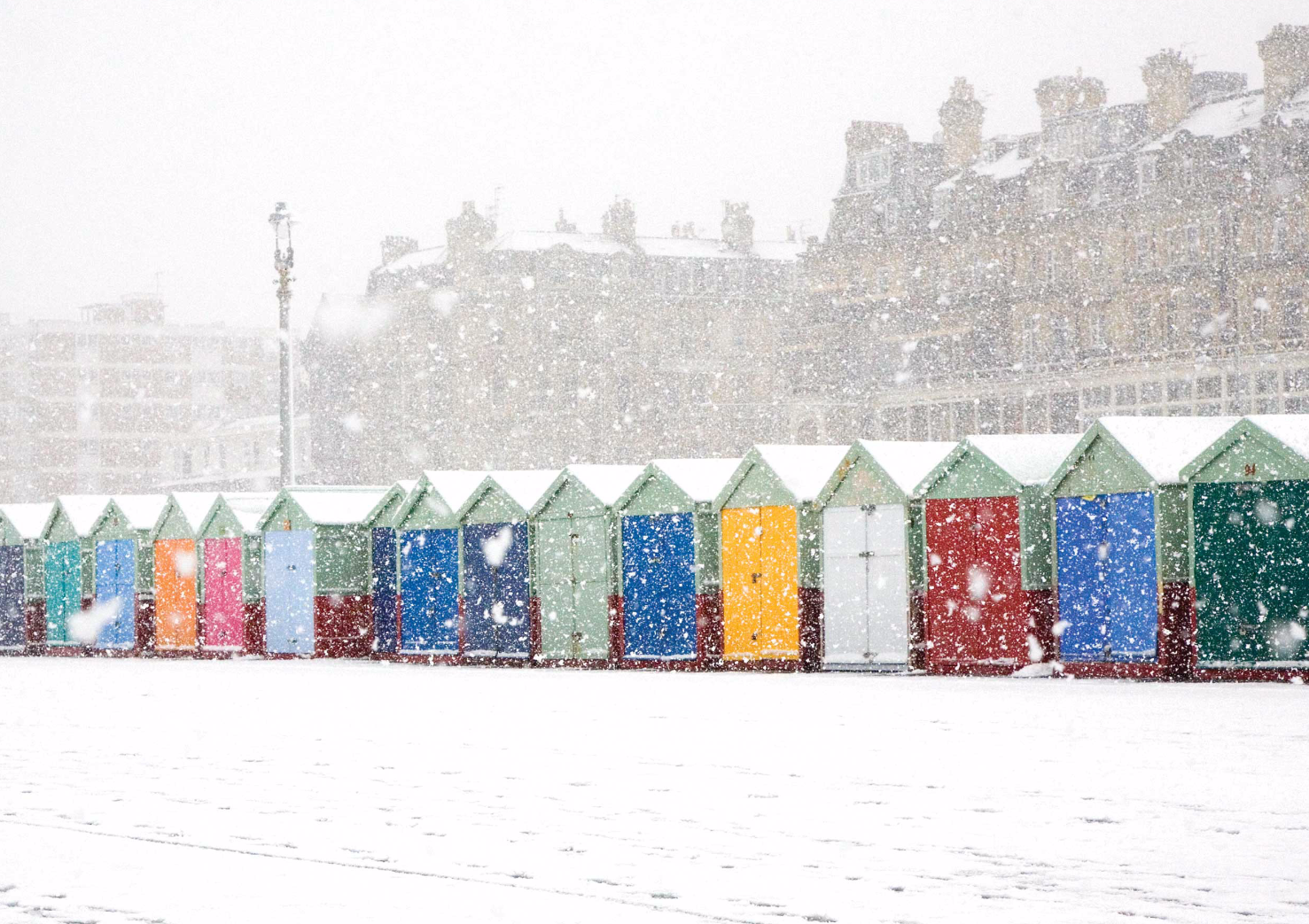 Beach Huts in the Snow, Hove #3