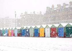 Beach Huts in the Snow, Hove #3