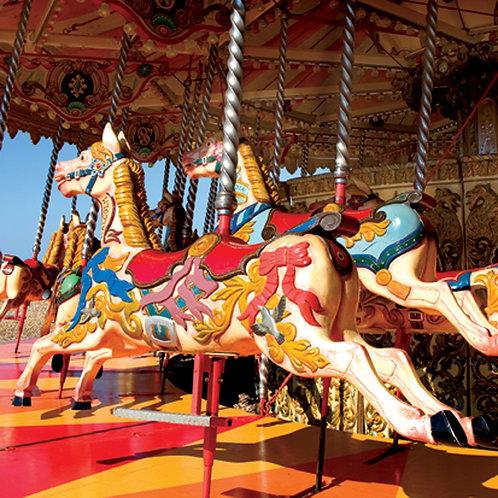 Brighton Beach Carousel - Square Card