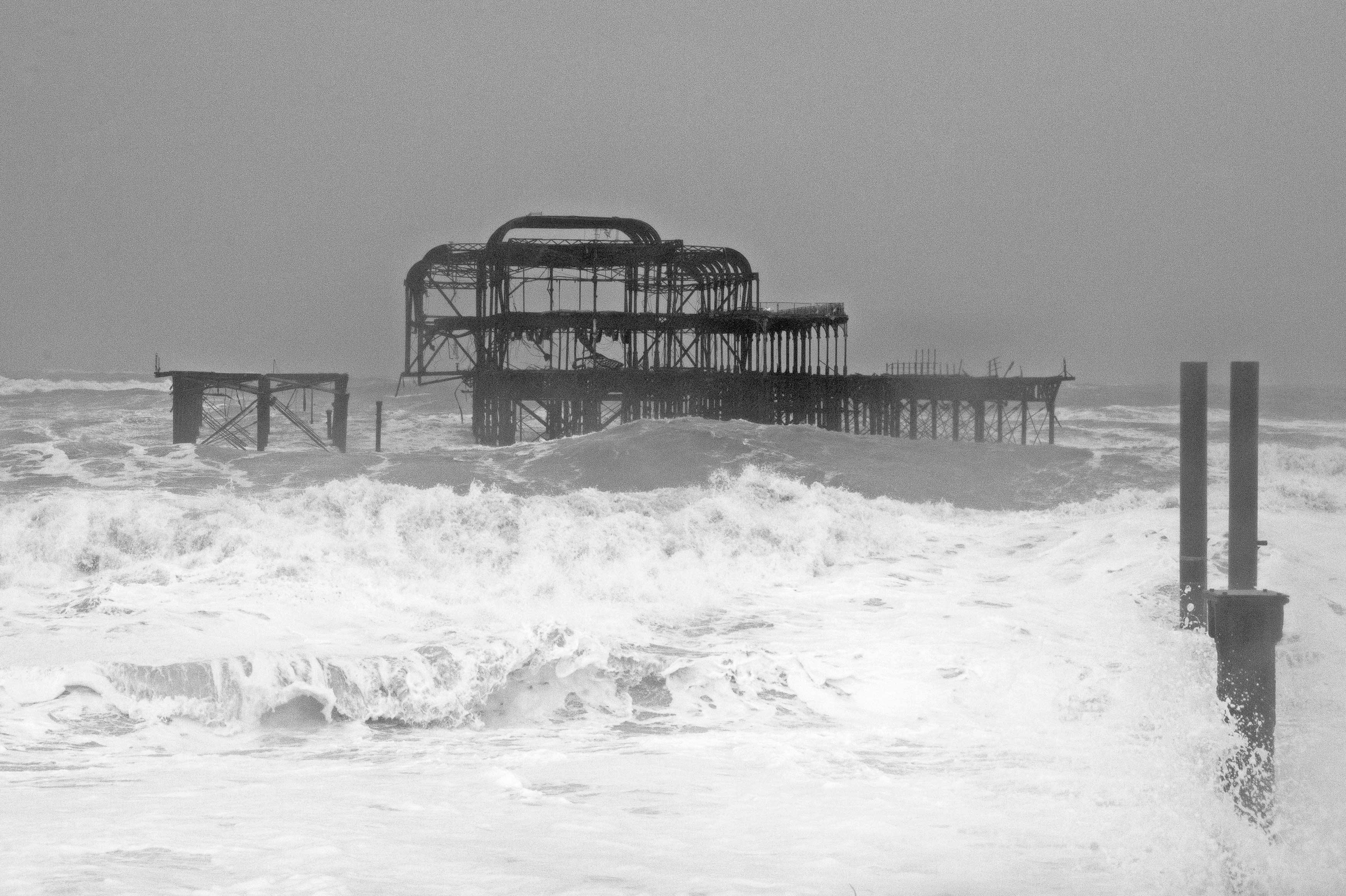 Stormy West Pier, Brighton
