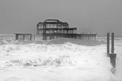Stormy West Pier, Brighton
