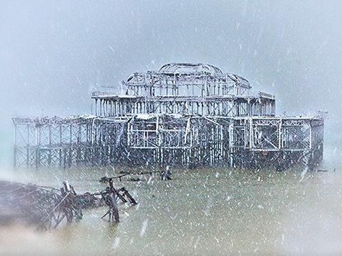 West Pier, Brighton - Snowstorm