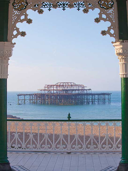 West Pier Sunrise through the Bandstand