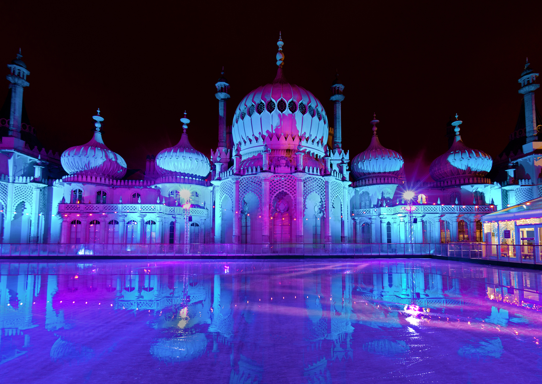 Brighton Pavilion with Ice Rink