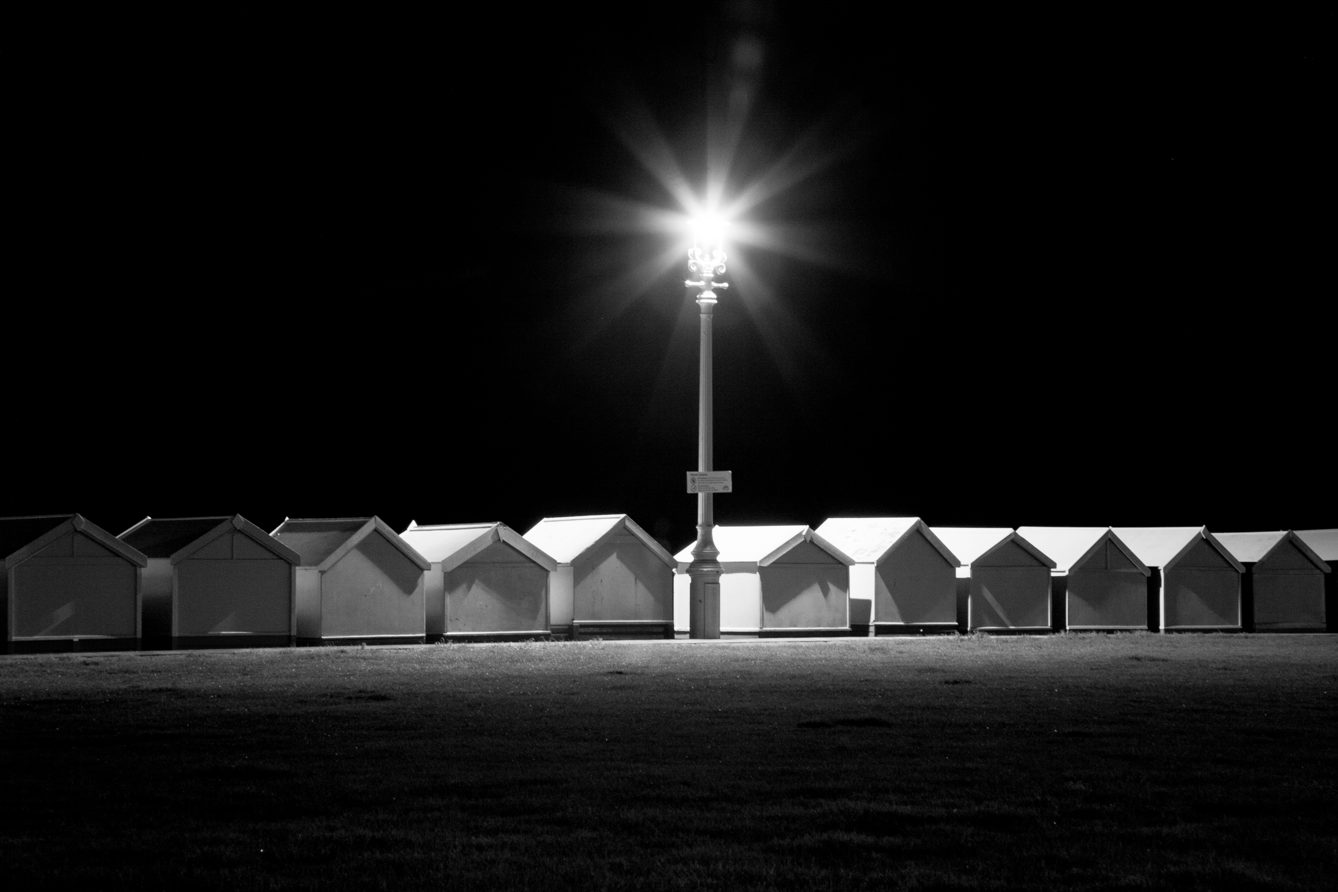 Beach Huts at Night, Hove