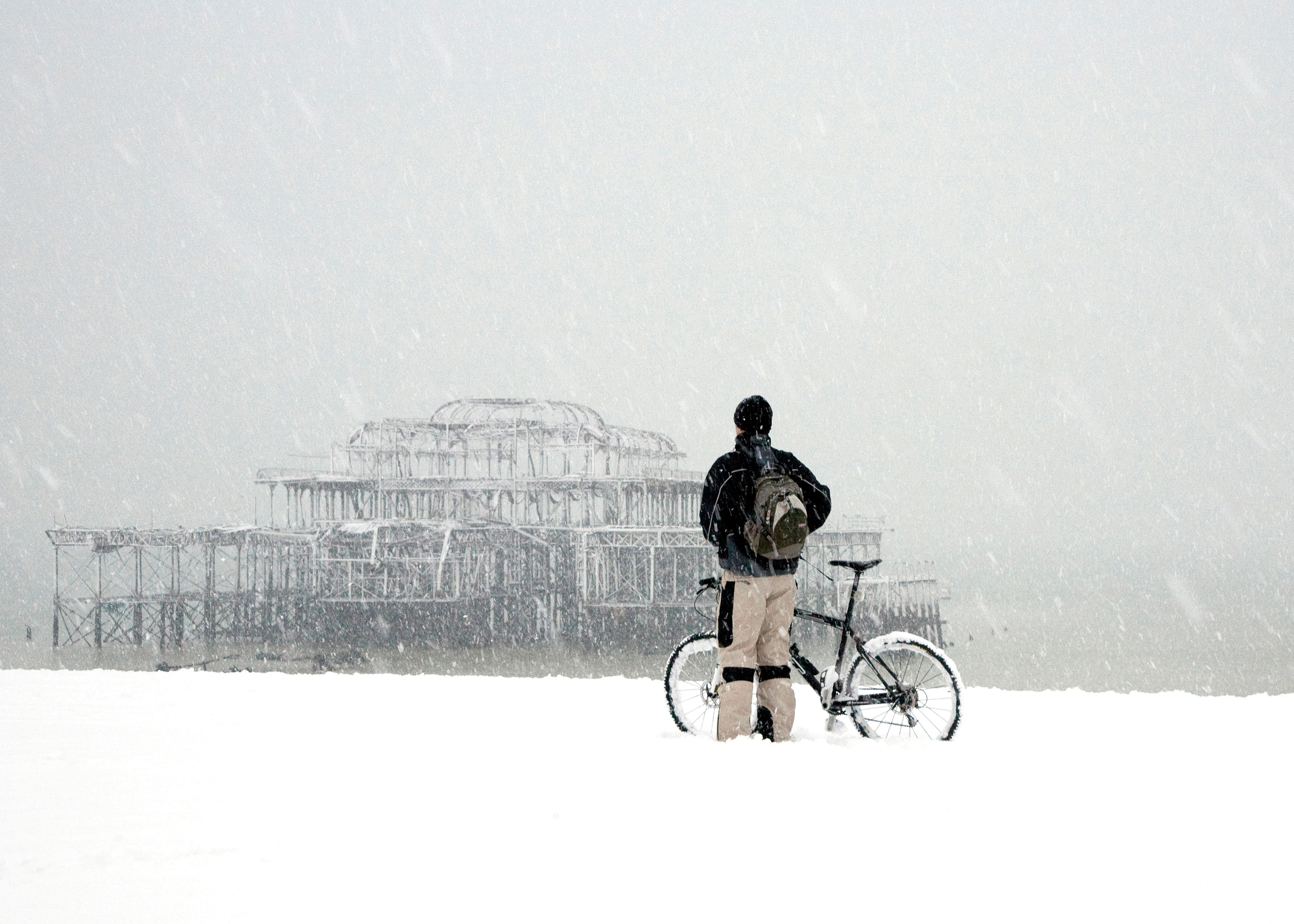 Cyclist and West Pier