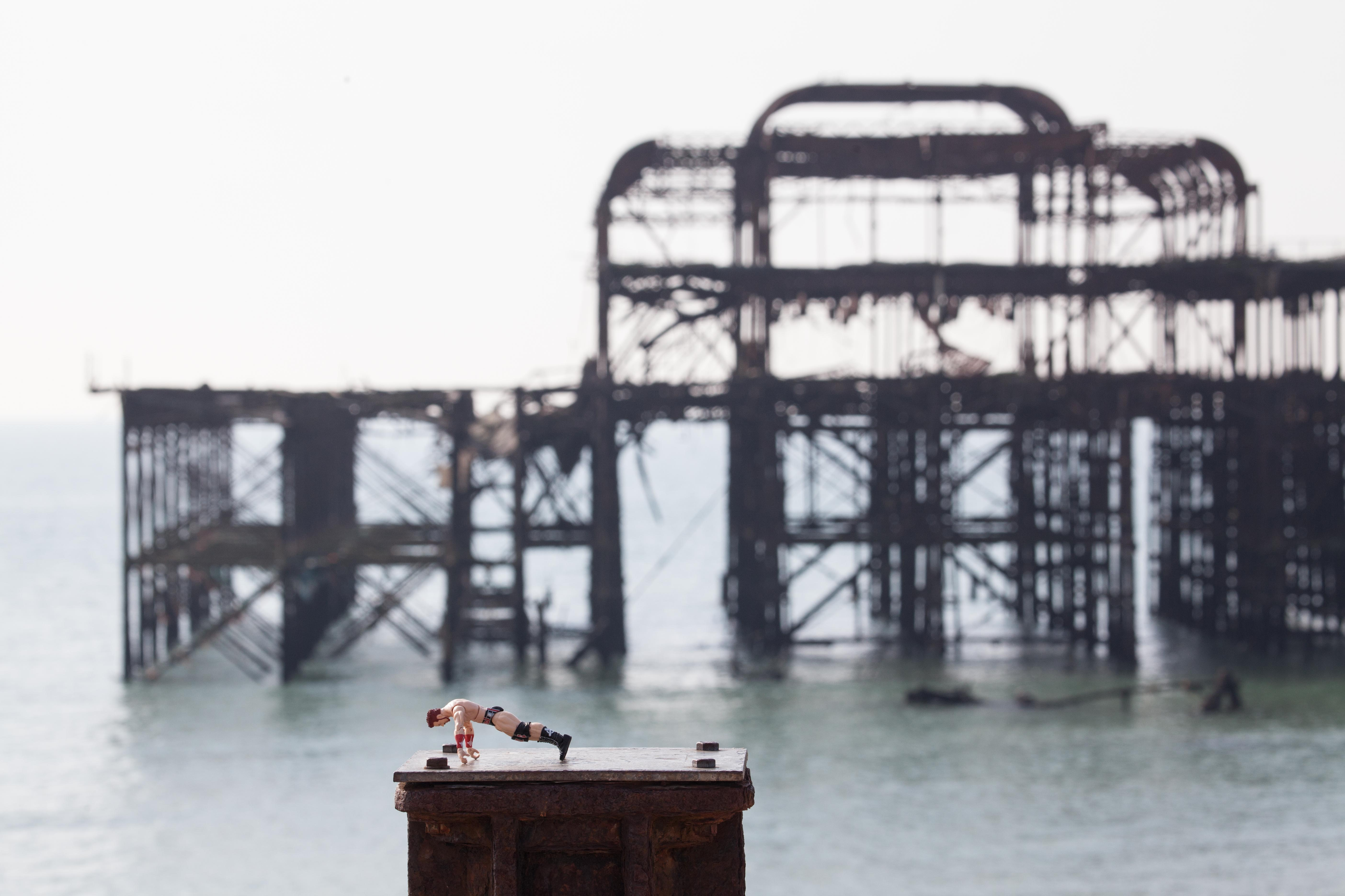 West Pier Brighton with toy