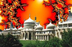 Brighton Pavilion 1990 fire flake