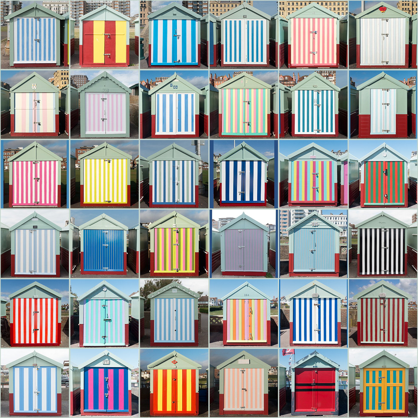 Striped Beach Huts, Hove