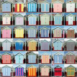 Striped Beach Huts, Hove