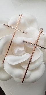 """""""Faith It"""" Big Cross Long Earrings (Rose Gold)"""