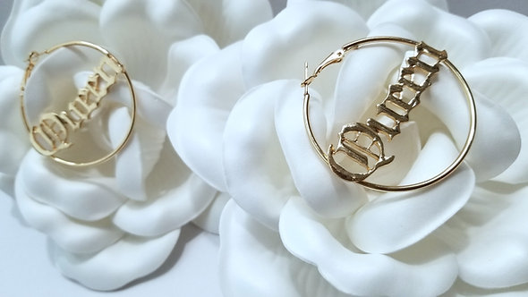 Queendom Gold Hoop Earrings