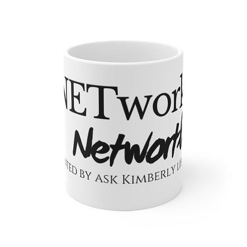 NETwork-Networth Presented By Ask Kimberly Lifestyle White Ceramic Mug