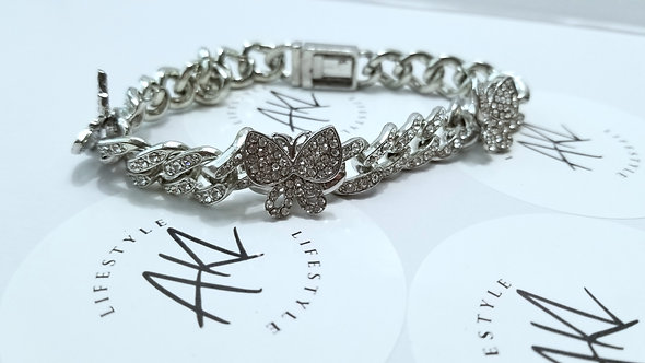 Circle of Life Butterfly Bling Anklet
