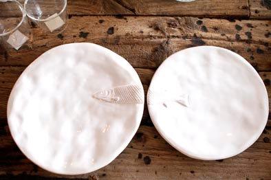Vajilla de cerámica  Pez