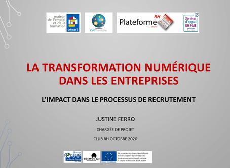 La transition numérique en entreprise / impact dans le processus de recrutement #2020