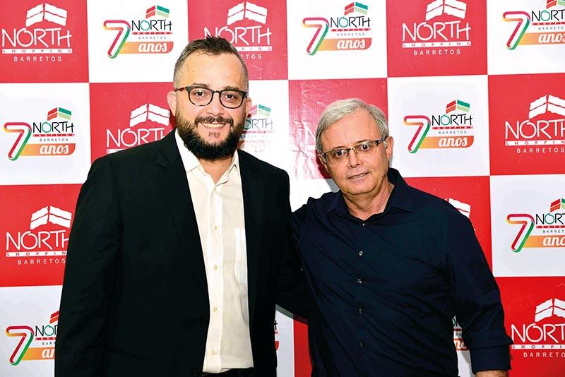Márcio Eli, do Centerplex Cinemas, ao  lado de Isaias Bernardes, presidente da  Chiquinho Sorvetes (Foto: Márcio Oliveira)